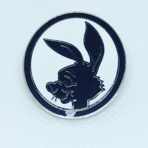 Rabbit Winnie the Pooh Silhouette Pin